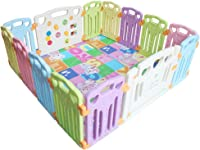 Baby playpen-SYY Material Safety- Kids  Activity  Centre Easy  to  Install and Clean Soft Color Design 6 Sizes to Choose (Size : 160 * 80cm)