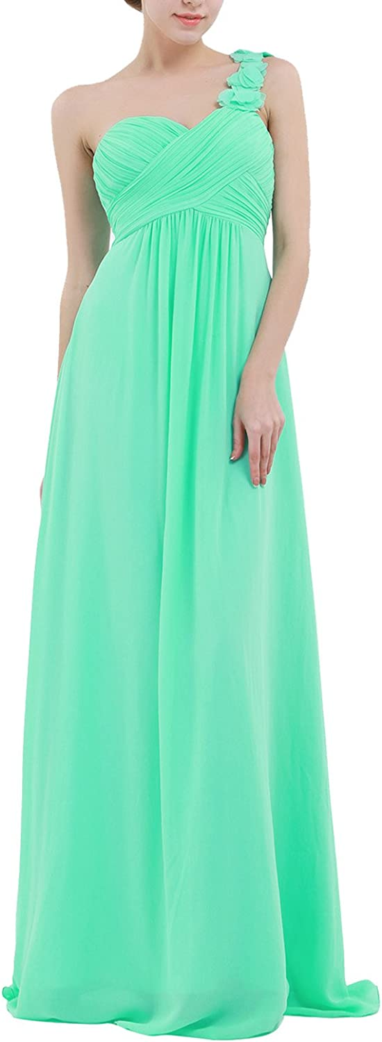 ACSUSS Women's Pleated Flower One Bridesmaid Dresses Our cheap shop OFFers the best service Shoulder Lo
