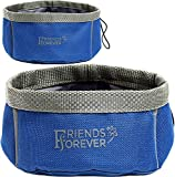 Friends Forever collapsible dog hiking gear bowls
