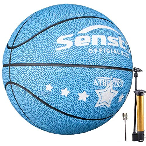 Senston Balon de Baloncesto Niños Fluorescente Balones Baloncesto para Niña Pelota Baloncesto de Tamaño 5