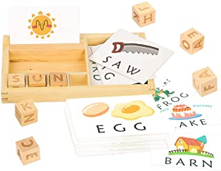 Youwo See and Spell Learning Toy - Puzzle Preschool Spelling Game Toys Matching Letter Game and Develops Alphabet Words Spelling Skills for 3 Year olds