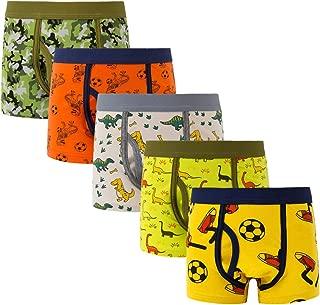 ELIKIDSTO Boys Kids Soft Adorable Cartoon Dinosaurs Boxer Brief Underwear 1-12Y