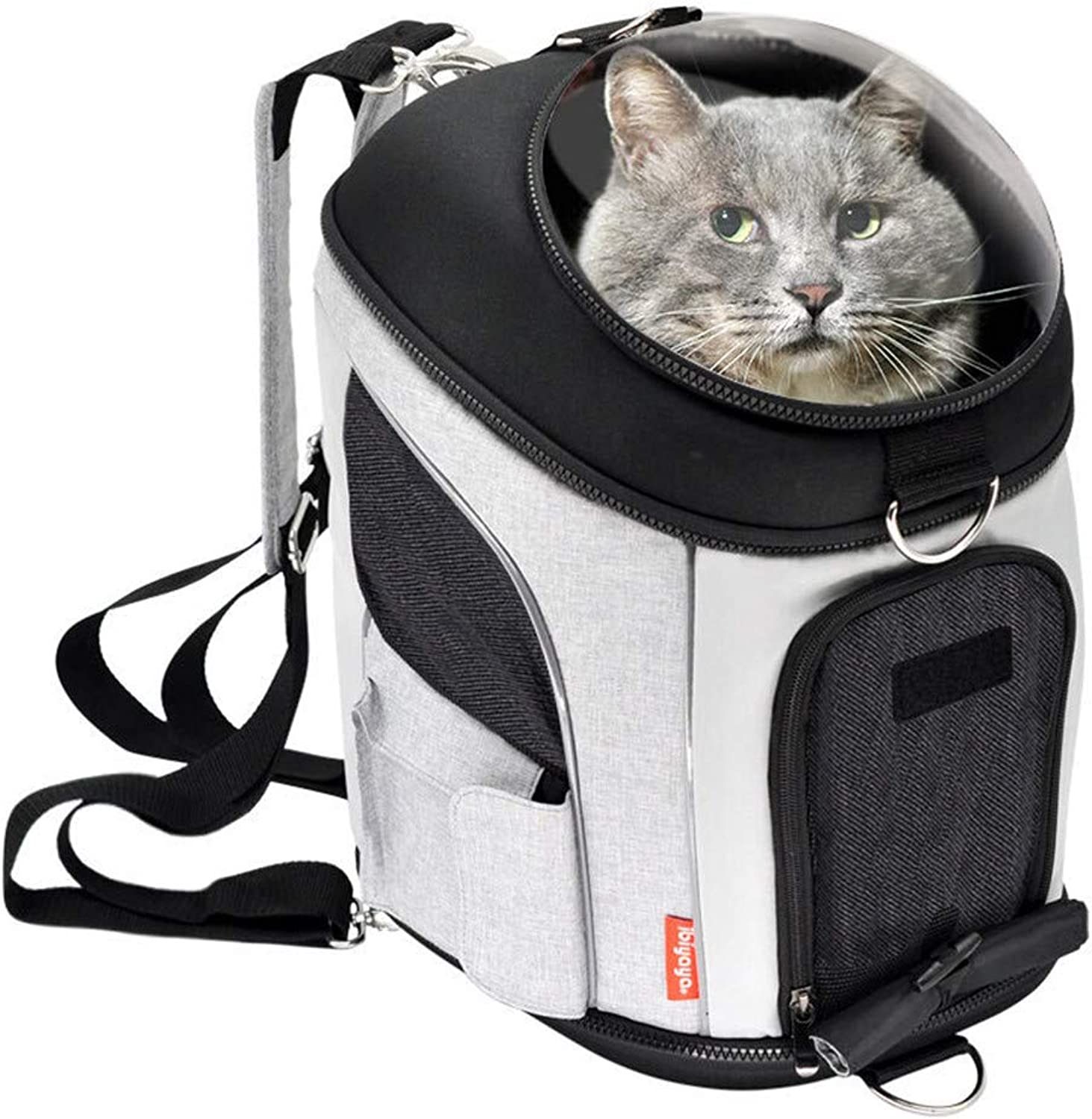 Explorer Pet Bag Cat Backpack Detachable Folding Storage Does Not Occupy Space Transparent Hard Shell Front Cover Safety Impact Resistance