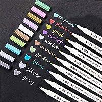 Marqueur Métallique Pens, Lypumso 10 stylos de différentes couleurs métalliques assorties Feutres métallique stylos pour...