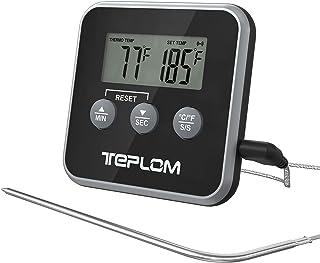 Teplom Thermomètre de Cuisson,Thermomètres de Cuisine Thermomètre Numérique Digital avec Sonde Longue et LCD Ecran pour No...