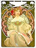 Poster 50 x 70 cm: Obraz von Alfons Mucha - hochwertiger