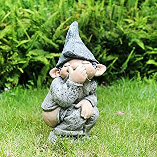 BONYOUN Peeing Gnome Garden Statue, Naughty Funny Resin Gnome Figurine, Adorable Small Dwarf Statue, Indoor Outdoor Decor ...