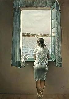 Kvinnan vid fönstret Målningar Vintage affischtryck Wall Art Bilder för sovrum Vardagsrumsdekor Canvas Wall Art Ready to H...
