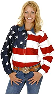 Women's L/S Stars and Stripes Pieced Flag