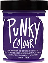 Punky Plum Semi Permanent Conditioning Hair Color, Vegan, PPD and Paraben Free, lasts up to 25 washes, 3.5oz