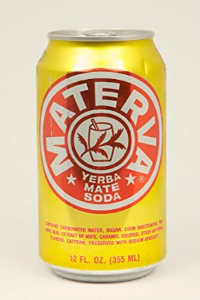 Materva soda. 12 oz. cans. 6 pack