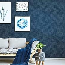 RoomMates Blue Perplexing Peel and Stick Wallpaper