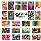 42thinx - 22 farbenfrohe Postkarten mit verschiedenen Motiven Pop Art