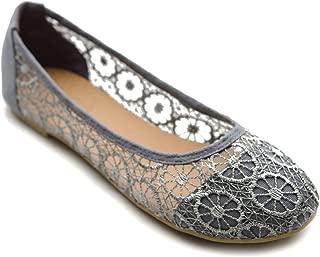 Women's Ballet Shoe Floral Lace Breathable Flat