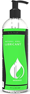 Lynk Pleasure Anal Lube Long Lasting Water Based 16 oz Sex Lube for Men, Women, and Couples | Paraben & Glycerin Free Intimate Personal Lubricant