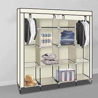 Alightup Armoire Chambre Armoire de Rangement Dressing Chambre Penderie Tissu Garde Robe Portable pour Chambre D'adulte Be...