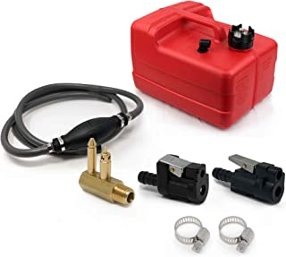 Five Oceans 3 Gallon Fuel Tank/Portable Kit for All Yamaha and Mercury Engines Connection, 3/8