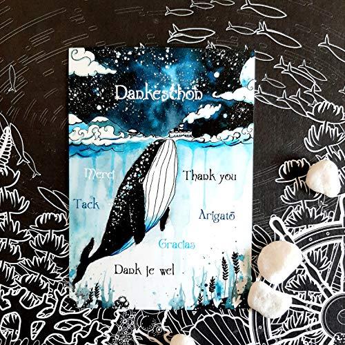 Aquarell Wal Postkarte