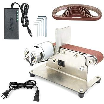 水平ベルトサンダー ミニ電動ベルト 研削サンダー 多機能 グラインダー DIY研磨研削盤 775モーター