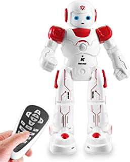 IHBUDS Smart and Programmable Remote-Control Robot for Kids. Beginner's STEM Toy Robot Friend for Kids to Learn as They Play-(Red)