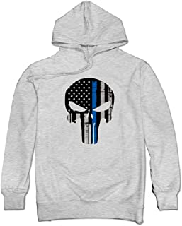 Men's Thin Blue Line The Punisher Hoodies Sweatshirt
