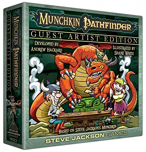 Steve Jackson Games SJG04423 - Munchkin Pathfinder Guest Artist Edition, Kartenspiel