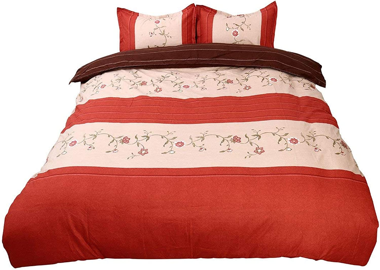Twin Size, orange Floral   Lightweight Microfiber Duvet Cover Sets, Printing Duvet Cover Set 3pcs Bed Sets (Twin Size, orange Floral)