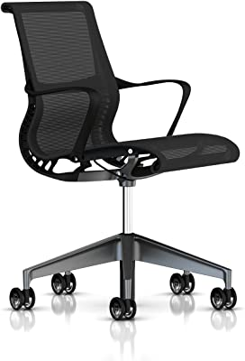 Herman Miller Setu Chair: Ribbon Arms - Translucent Casters - Graphite Frame/Graphite Base