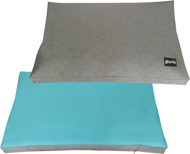 Gloria Rettangolare Quartz Dog Cushion (L) (G  /Blue)