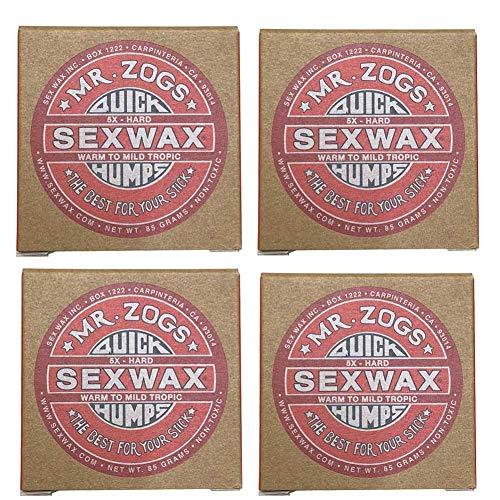 4個セットSEX WAX セックスワックス サーフワックス/サーフボードワックス サーフボード滑り止め WARM(初夏用)
