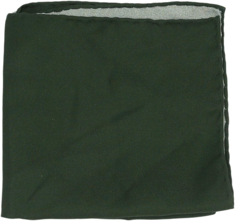 Dulcepunta Men's Reversible Solid Silk Pocket Square