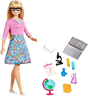 ​Barbie Teacher Doll, Blonde, with 10 Teaching Accessories, Including Spinning Globe and a Laptop that Opens and Closes, G...