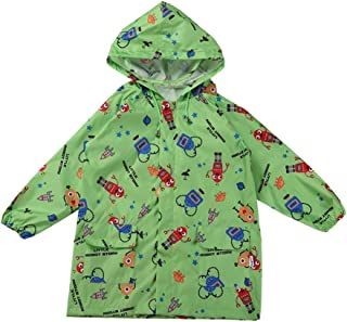 LHY- Raincoat S Children's raincoat Spring and Summer Boys and Girls Environmentally Friendly Breathable Cartoon Poncho Convenient (Size : S)