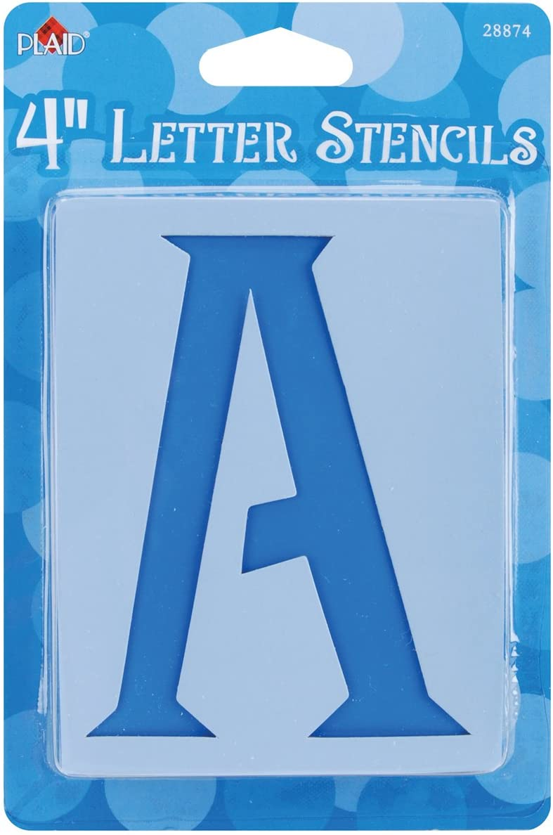 Amazon Com Plaid Letter Stencil Value Pack 4 Inch 28874 Genie