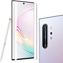 Tempered Glass Screen Protector for Galaxy Note 10 Plus 6.8 inches, Include a Camera Lens Protector, 100% Touch Responsive, Case Friendly, Full Coverage, HD Clear