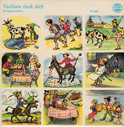 Seeber, Märchentante Margit / Tischlein deck dich / Bildhülle mit Original Kunststoff-Innenhülle / Tempo Märchen Schallplatten 4069 / Deutsche Pressung / 7 Zoll Vinyl Single Schallplatte /