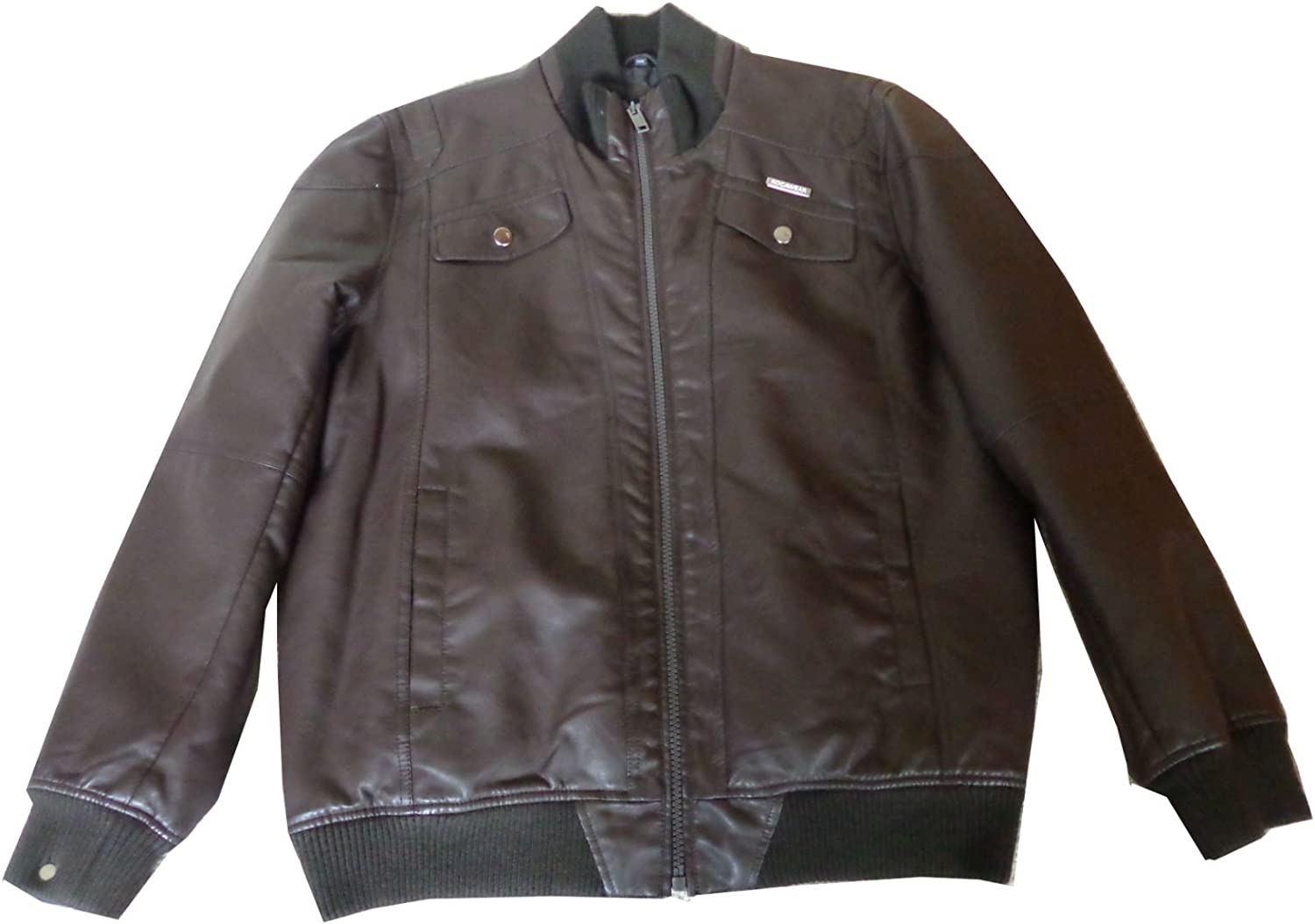 Rocawear Men's A surprise price is realized PU Brown SEAL limited product X-Large Jacket