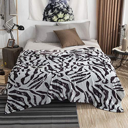 Korallen Flanell Bettwäsche Fleece Plaid Cover Home Winter Wärmer Decken Baby Kinder Tröster zum Schlafen-Zebrastreifen_200 x 230 cm