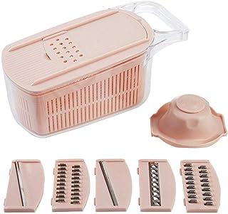 6 en 1 cutter de légumes ABS + PP Matériau Matériel Ménage Slicer Cuisine Cuisine Pulletières de poche avec protège-mains ...