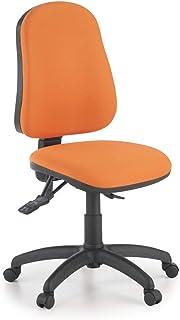 ofiprix | Silla Eco2 | Silla Giratoria de Oficina | Silla de Escritorio Tapizada |Mecanismo Sincronizado | Color Naranja
