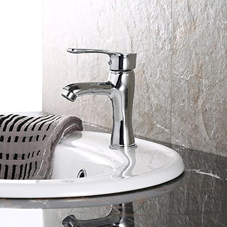 Makej Hot Cold Water Faucet Single Hole Basin