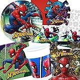 Procos/Carpeta 101-tlg. Party-Set * Spiderman - Team UP * für Kindergeburtstag und Mottoparty | mit...