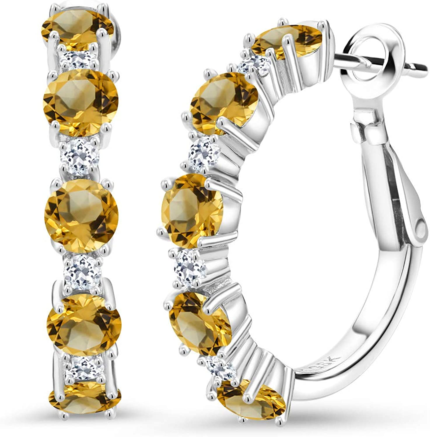 Gem Stone King 925 Sterling Very popular Silver White Indianapolis Mall Citrine Yellow Topa and