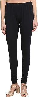 Dixcy Scott Slimz Women's Leggings Solid Skin Fit Cotton Lycra Chudidhar Leggings K1-PR3986PA Black- CC-001 Size FS