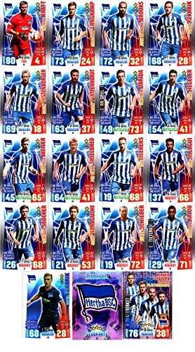 Match Attax Bundesliga 2015 2016 - Karten-Set Hertha BSC Cap Viererkette Clubkarte - Deutsch