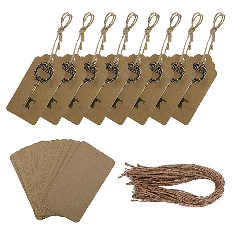 Startview 30Pcs Key Shape Bottle Opener for Party Wedding with Escort Tag Card, ?? Vintage Classic