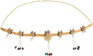 A Beautiful peacock design Traditional gold polished kamarpatta, Kamar chain, tagdi, Kardhani, bellychain, waist chain, hi...