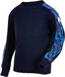 Merino Wool Kids Boy's Girl's T-Shirt Long Sleeve Machine Washable. Made in Norway.