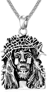U7 Baptism Necklace for Men Women Religious Pendant with 3mm Wide Spiga Rope Chain 22