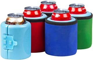 ChillnJoy iCube – Gel-infused, Instant Beverage Chiller. Drinks perfectly chilled up to 6 hours. 4-Pack: Red, Green, Blue, Black